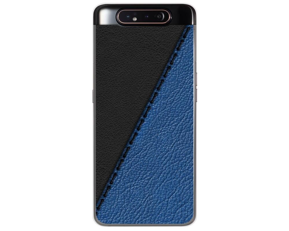 Funda Gel Tpu para Samsung Galaxy A80 diseño Cuero 02 Dibujos