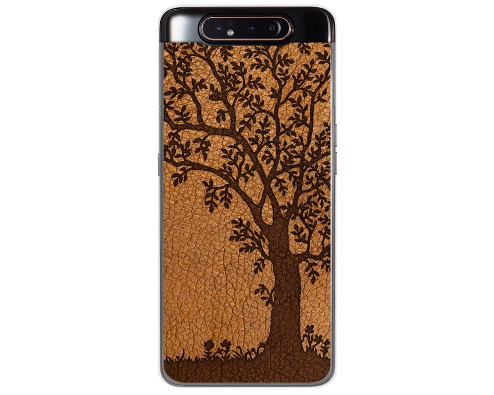 Funda Gel Tpu para Samsung Galaxy A80 diseño Cuero 03 Dibujos