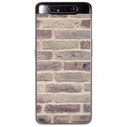 Funda Gel Tpu para Samsung Galaxy A80 diseño Ladrillo 01 Dibujos