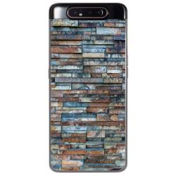 Funda Gel Tpu para Samsung Galaxy A80 diseño Ladrillo 05 Dibujos