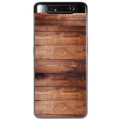 Funda Gel Tpu para Samsung Galaxy A80 diseño Madera 02 Dibujos