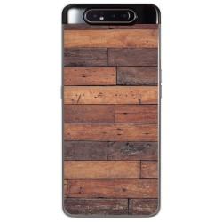 Funda Gel Tpu para Samsung Galaxy A80 diseño Madera 03 Dibujos