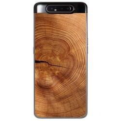 Funda Gel Tpu para Samsung Galaxy A80 diseño Madera 04 Dibujos