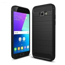 Funda Gel Tpu Tipo Carbon Negra para Samsung Galaxy A3 (2017)