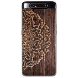 Funda Gel Tpu para Samsung Galaxy A80 diseño Madera 06 Dibujos