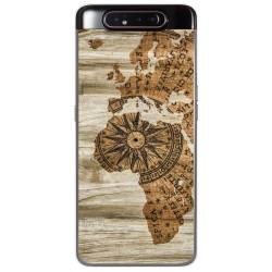 Funda Gel Tpu para Samsung Galaxy A80 diseño Madera 07 Dibujos