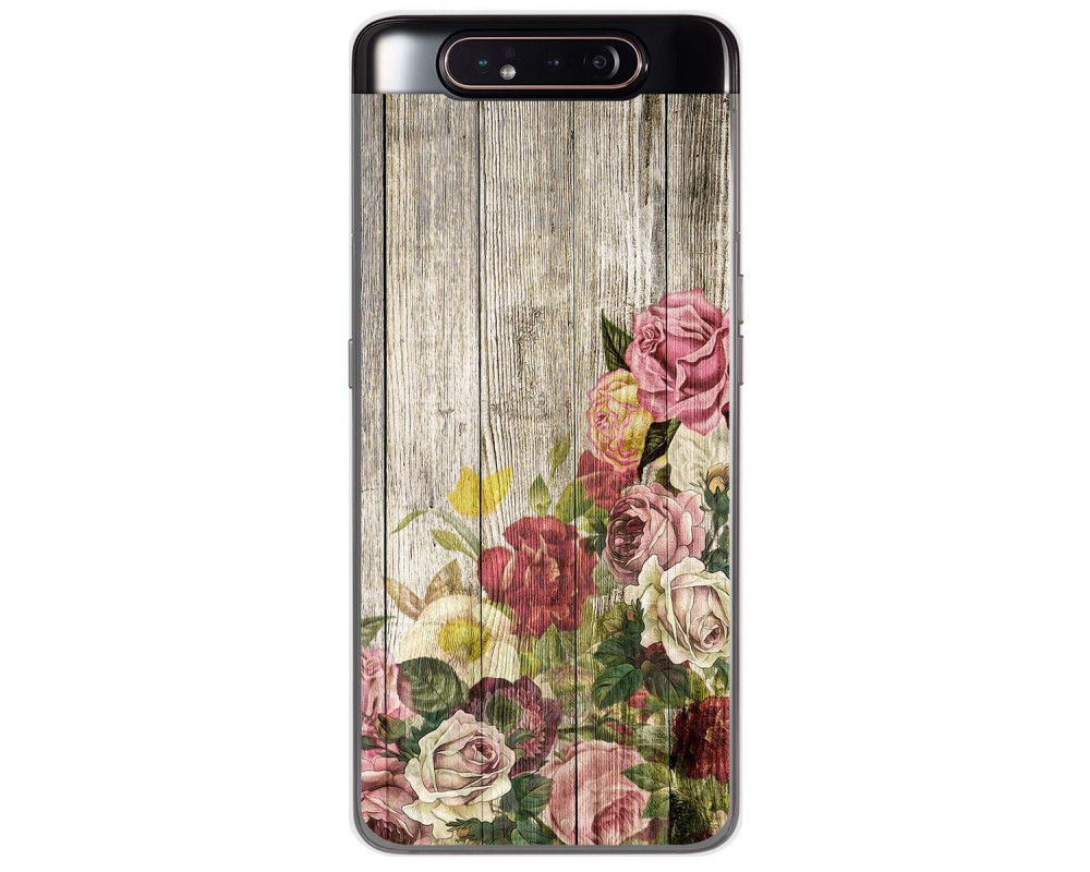 Funda Gel Tpu para Samsung Galaxy A80 diseño Madera 08 Dibujos