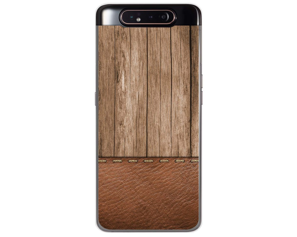 Funda Gel Tpu para Samsung Galaxy A80 diseño Madera 09 Dibujos