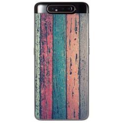 Funda Gel Tpu para Samsung Galaxy A80 diseño Madera 10 Dibujos