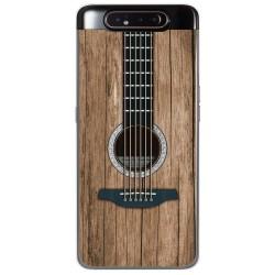 Funda Gel Tpu para Samsung Galaxy A80 diseño Madera 11 Dibujos