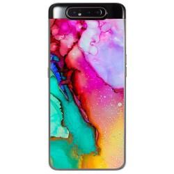 Funda Gel Tpu para Samsung Galaxy A80 diseño Mármol 15 Dibujos