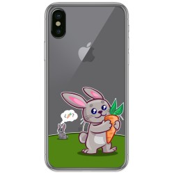 Funda Gel Transparente para Iphone X / Xs diseño Conejo Dibujos