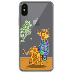 Funda Gel Transparente para Iphone X / Xs diseño Jirafa Dibujos