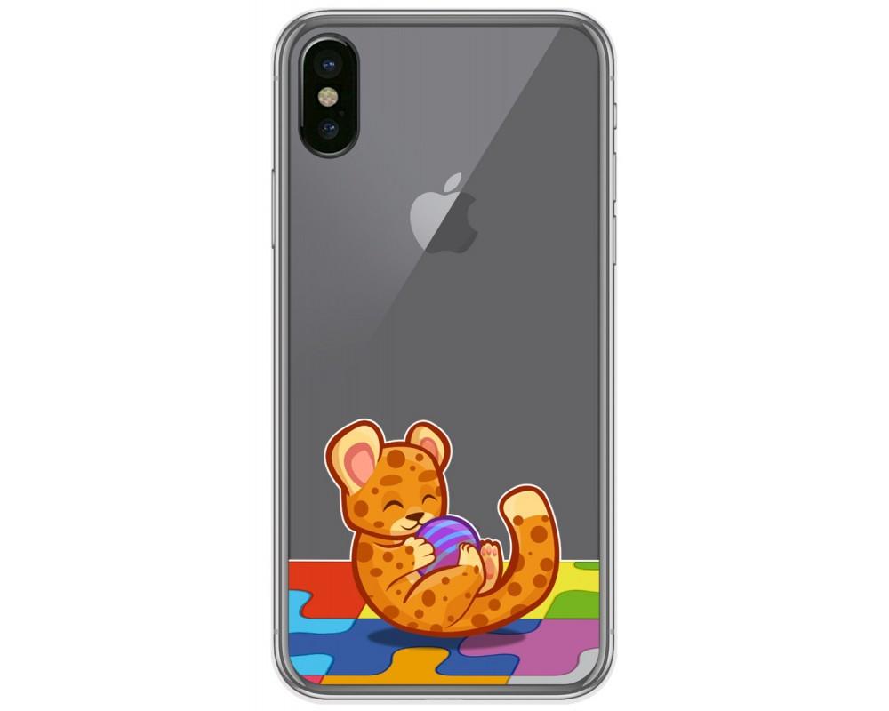 Funda Gel Transparente para Iphone X / Xs diseño Leopardo Dibujos