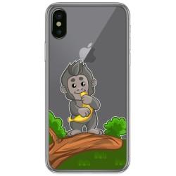 Funda Gel Transparente para Iphone X / Xs diseño Mono Dibujos