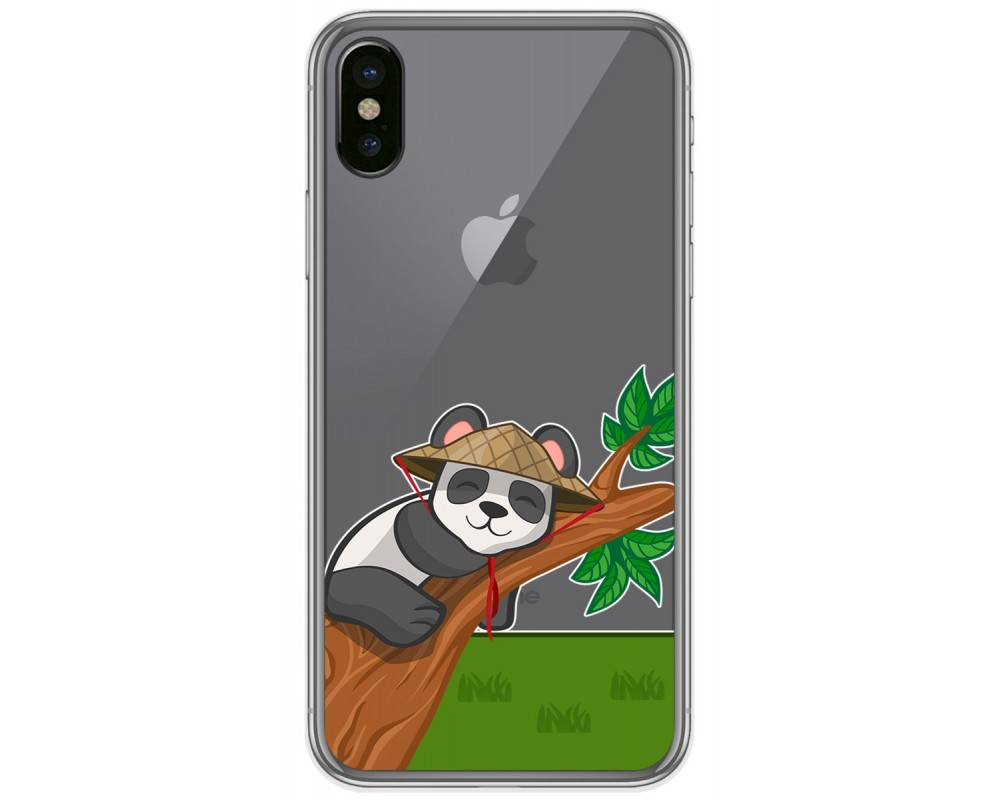 Funda Gel Transparente para Iphone X / Xs diseño Panda Dibujos