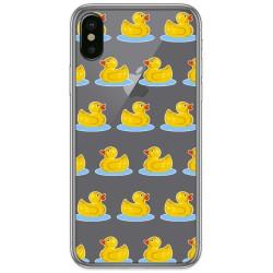 Funda Gel Transparente para Iphone X / Xs diseño Pato Dibujos