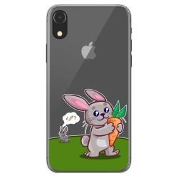 Funda Gel Transparente para Iphone Xr diseño Conejo Dibujos