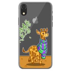 Funda Gel Transparente para Iphone Xr diseño Jirafa Dibujos