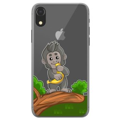 Funda Gel Transparente para Iphone Xr diseño Mono Dibujos