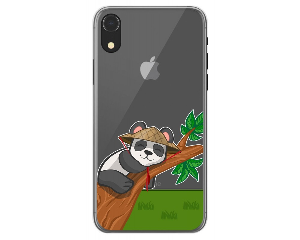 Funda Gel Transparente para Iphone Xr diseño Panda Dibujos