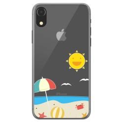 Funda Gel Transparente para Iphone Xr diseño Playa Dibujos