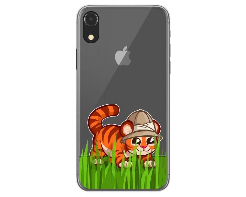 Funda Gel Transparente para Iphone Xr diseño Tigre Dibujos