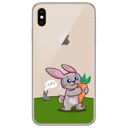 Funda Gel Transparente para Iphone Xs Max diseño Conejo Dibujos