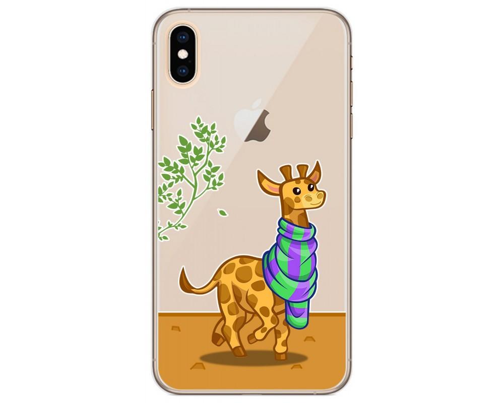 Funda Gel Transparente para Iphone Xs Max diseño Jirafa Dibujos