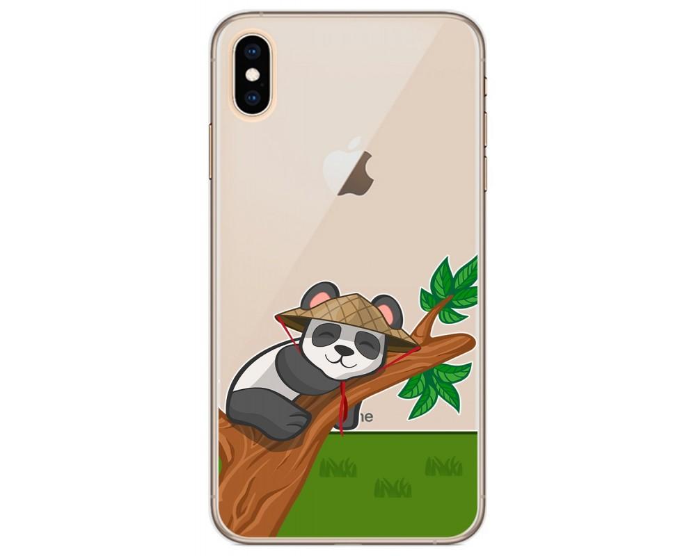 Funda Gel Transparente para Iphone Xs Max diseño Panda Dibujos