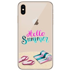 Funda Gel Transparente para Iphone Xs Max diseño Summer Dibujos