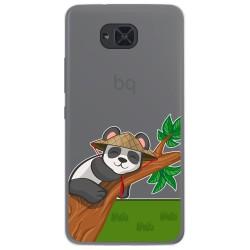 Funda Gel Transparente para Bq Aquaris U2 / U2 Lite diseño Panda Dibujos