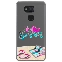 Funda Gel Transparente para Bq Aquaris V / Vs diseño Summer Dibujos