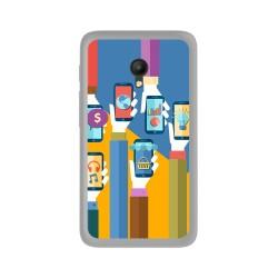 Funda Gel Tpu para Orange Rise 51 / Alcatel Pixi 4 (5) 4G / Vodafone Smart Turbo 7 Diseño Apps Dibujos