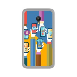 Funda Gel Tpu para Orange Rise 51 / Alcatel Pixi 4 (5) 4G / Vodafone Smart Turbo 7 Diseño Apps Dibujos