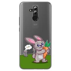 Funda Gel Transparente para Huawei Mate 20 Lite diseño Conejo Dibujos