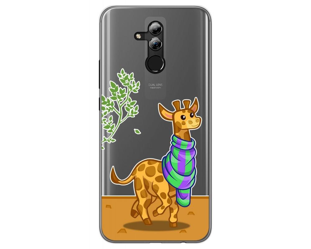 Funda Gel Transparente para Huawei Mate 20 Lite diseño Jirafa Dibujos