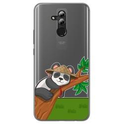 Funda Gel Transparente para Huawei Mate 20 Lite diseño Panda Dibujos