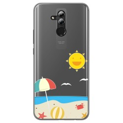 Funda Gel Transparente para Huawei Mate 20 Lite diseño Playa Dibujos