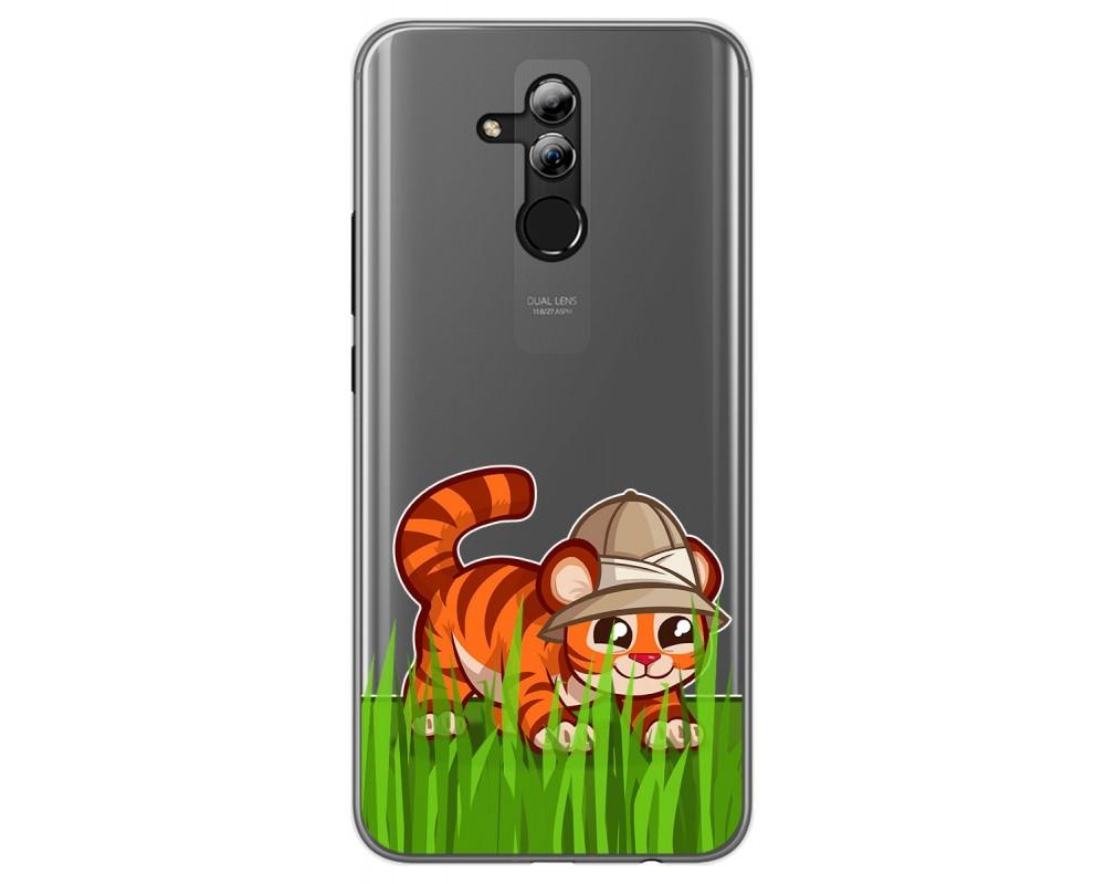 Funda Gel Transparente para Huawei Mate 20 Lite diseño Tigre Dibujos