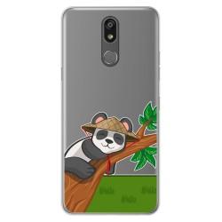 Funda Gel Transparente para Lg K40 diseño Panda Dibujos