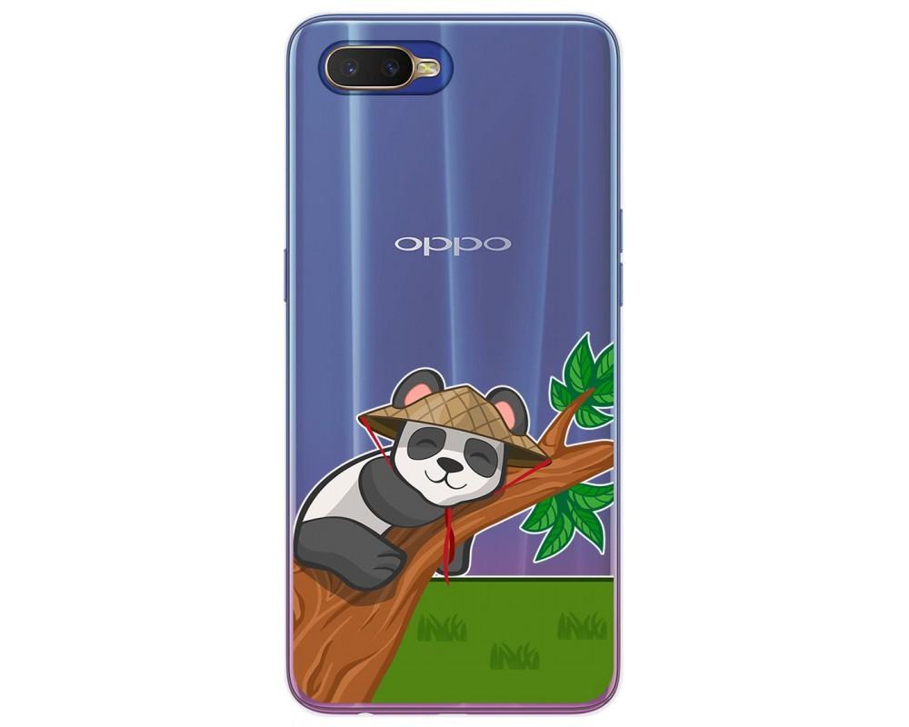 Funda Gel Transparente para Oppo RX17 Neo diseño Panda Dibujos