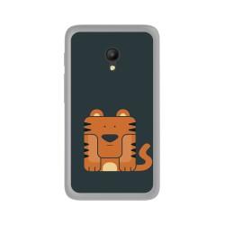 Funda Gel Tpu para Orange Rise 51 / Alcatel Pixi 4 (5) 4G / Vodafone Smart Turbo 7 Diseño Tigre Dibujos