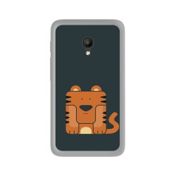 Funda Gel Tpu para Orange Rise 51 / Alcatel Pixi 4 (5) 4G / Vodafone Smart Turbo 7 Diseño Tigre Dibujos