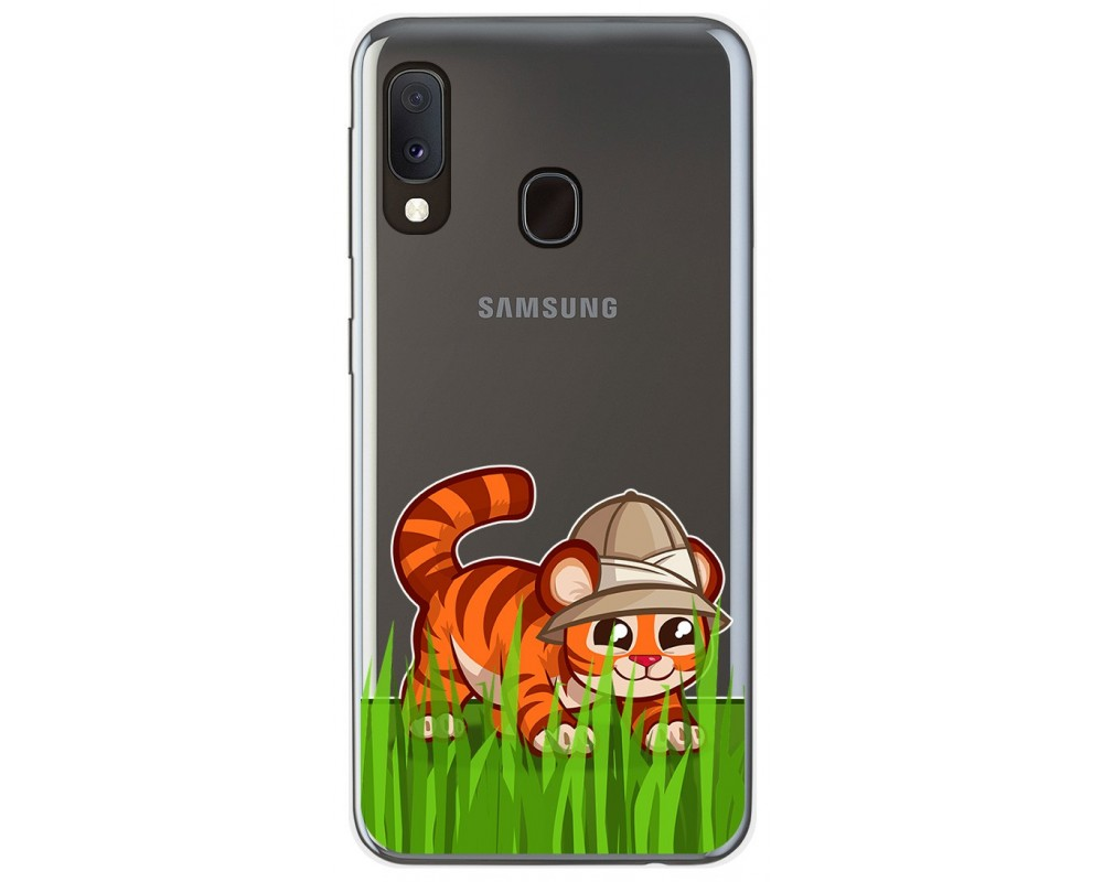 Funda Gel Transparente para Samsung Galaxy A20e 5.8 diseño Tigre Dibujos