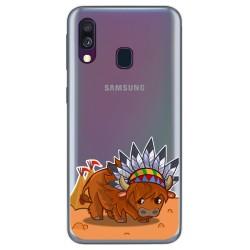 Funda Gel Transparente para Samsung Galaxy A40 diseño Bufalo Dibujos