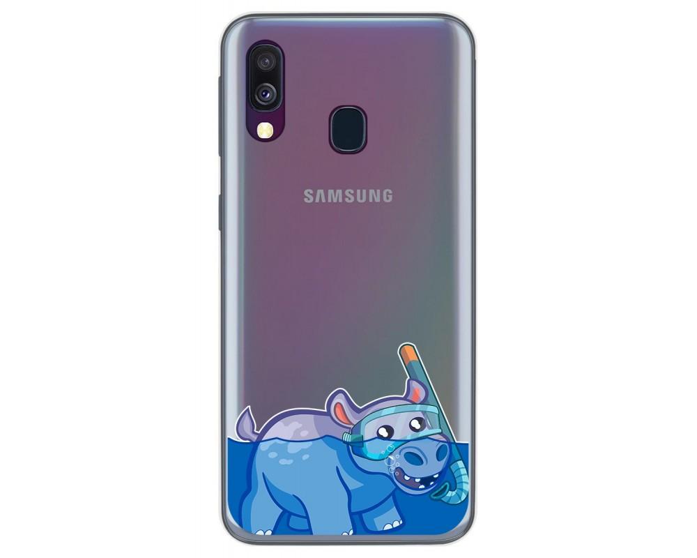 Funda Gel Transparente para Samsung Galaxy A40 diseño Hipo Dibujos