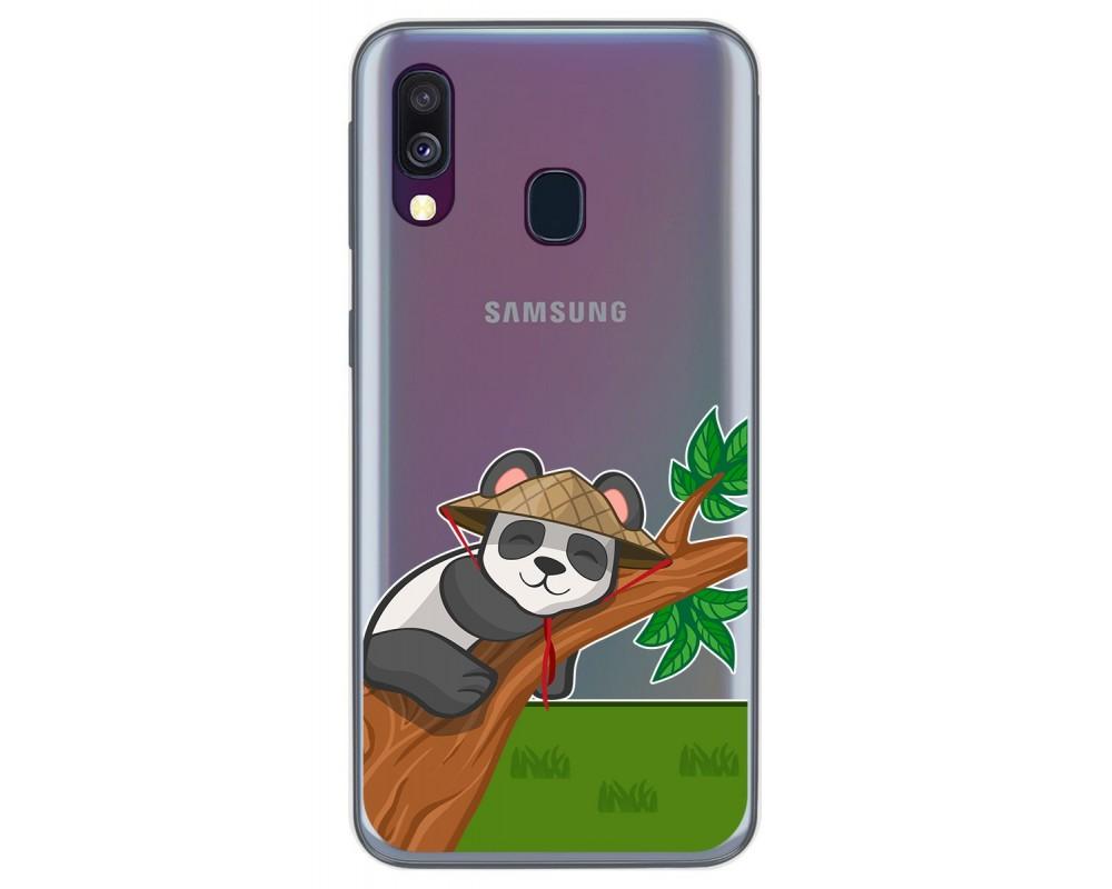 Funda Gel Transparente para Samsung Galaxy A40 diseño Panda Dibujos