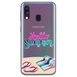 Funda Gel Transparente para Samsung Galaxy A40 diseño Summer Dibujos