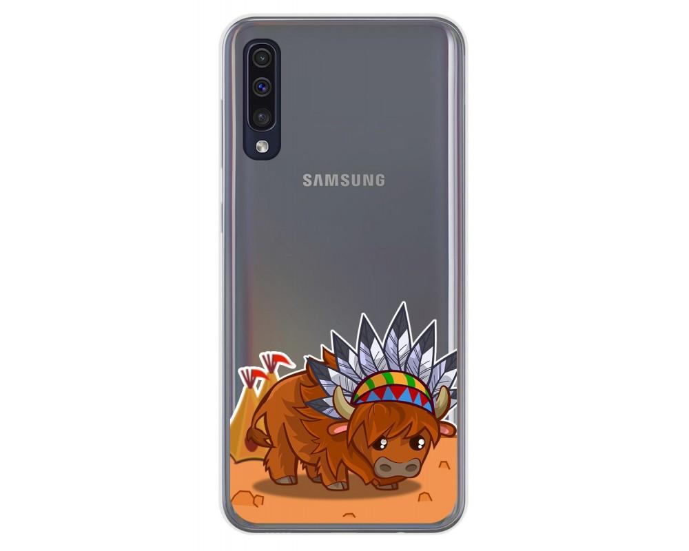 Funda Gel Transparente para Samsung Galaxy A50 / A50s / A30s diseño Bufalo Dibujos